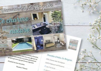 Carte Postale chambre d'hôte La Bergerie