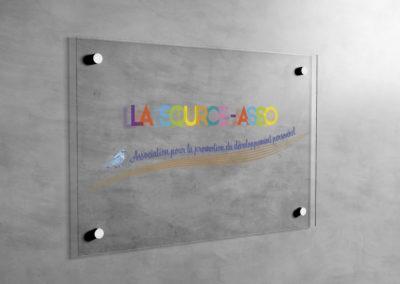 Signalétique – Plaque verre acrylique