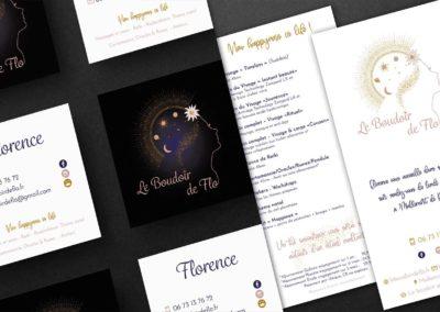 Carte de visite et tarif Le Boudoir de Flo
